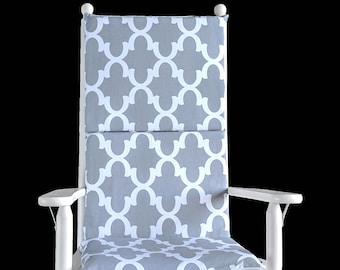 Gray Custom Rocking Chair Cushion
