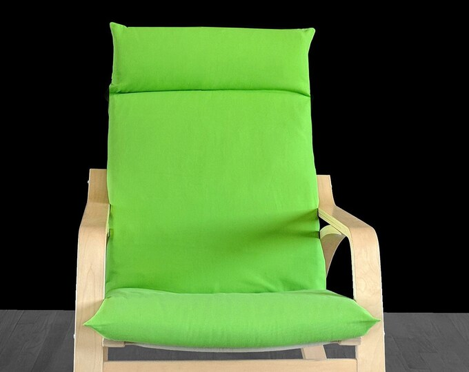 SALE Solid Green Chair Covers, IKEA POÄNG Cushion Seat Cover
