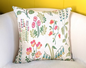 Colorful Garden Floral Pillow Cover