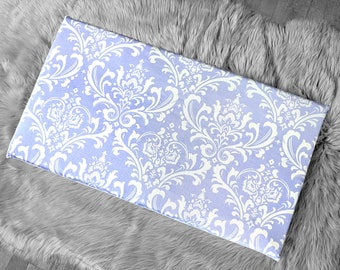 Damask Print, Lavender IKEA STUVA Bench Pad Slip Cover, Purple Floral