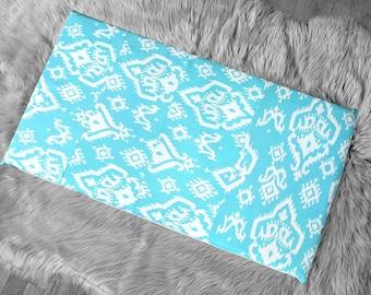 SAMPLE Blue Indian Ikat Print, IKEA STUVA Bench Pad Slip Cover, Raji