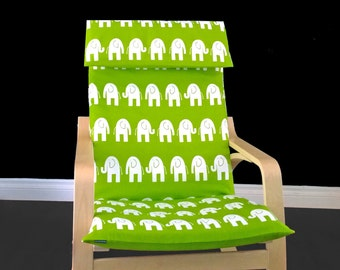 Lime Green Elephant Ikea Poang Chair Cover