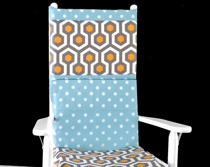 Geometric Polka Dot Rocking Chair Cover