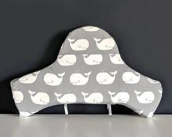 IKEA Highchair Cushion Cover for Klammig, Pyttig, Whale Gray