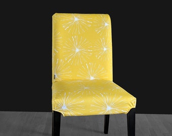 Bright Yellow Blossoms Print IKEA HENRIKSDAL Dining Chair Cover, Sparks Henriksdal Slipcover