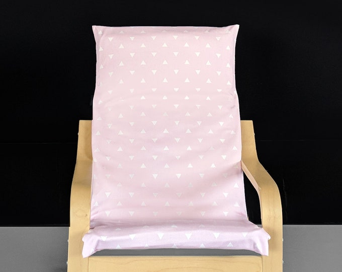 KIDS POÄNG Triangle Cushion Seat Cover, Baby Pink
