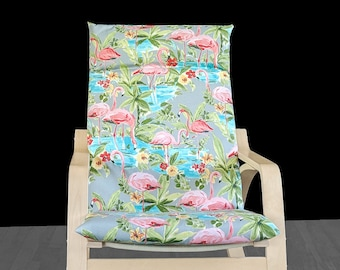 Pink Flamingo Ikea Poang Chair Cover