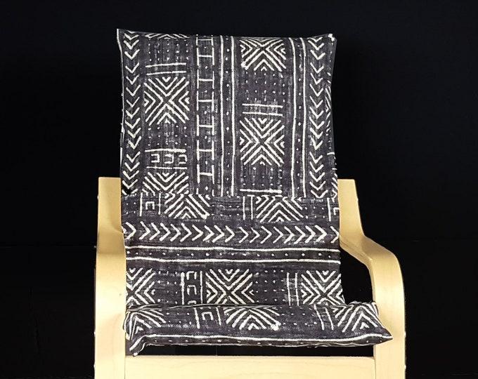 Mud Cloth African Tribal Pattern IKEA KIDS POÄNG Cushion Slipcover, Mali