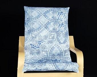 Lacy Denim Blue IKEA KIDS POÄNG Cushion Slipcover