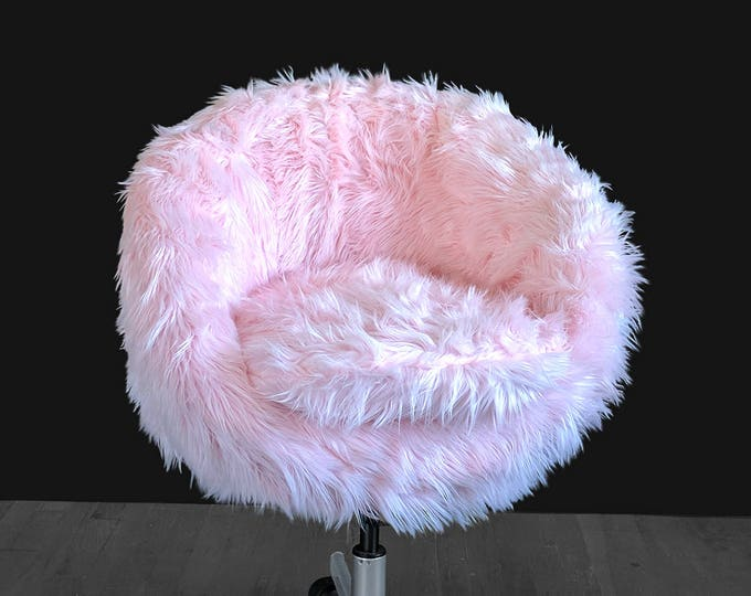 IKEA Pink Fur SKRUVSTA Chair Slip Cover