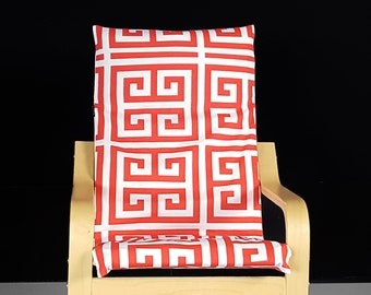 Red Squares IKEA KIDS POÄNG Cushion Slipcover