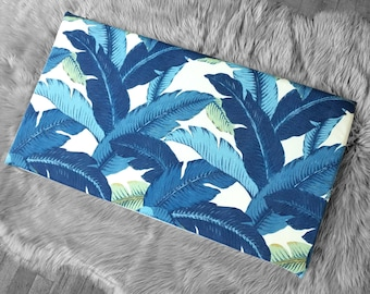 Tropical Swaying Palms IKEA HEMMAHOS Bench Pad Slip Cover, Indigo Blue, Tommy Bahama