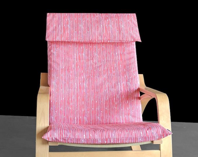 Pink Lines Ikea Poang Cover, Custom Ikea Covers