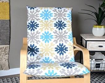 Snowflake IKEA POÄNG Cushion Slip Cover