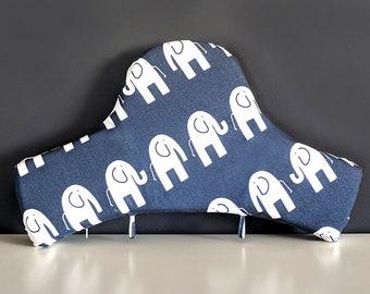 IKEA Highchair Cushion Cover for Klammig, Pyttig, Navy Blue Elephants