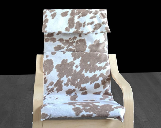 Tan Faux Cowhide Animal Print IKEA KIDS POÄNG Cushion Slipcover