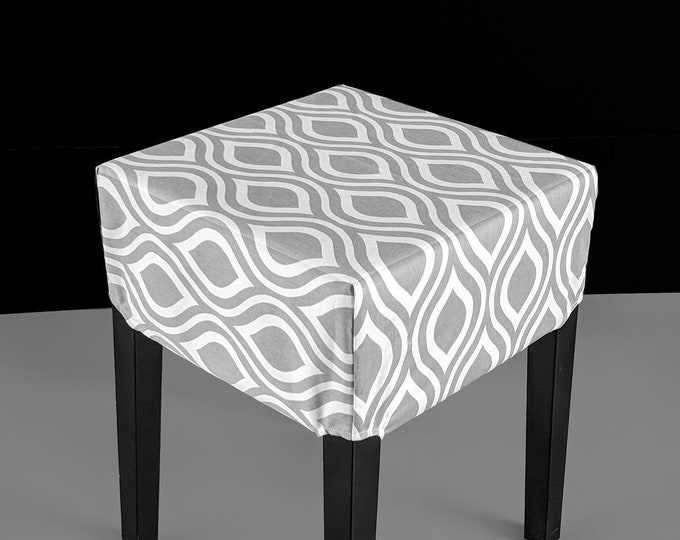 Teardrop Gray Cover for IKEA Nils Stool