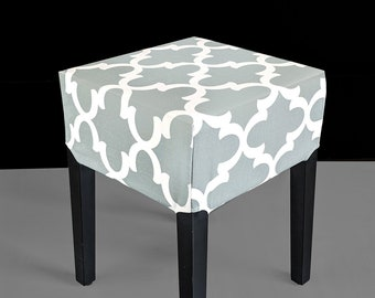 Indian Print Gray Cover for IKEA Nils Stool