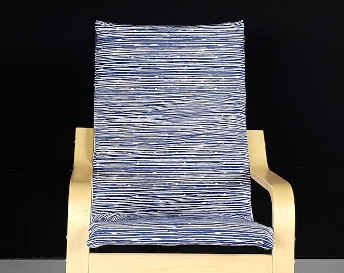 IKEA KIDS Boys Lines Pattern POÄNG Cushion Slipcover
