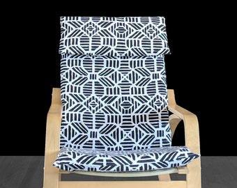 Aztech Black Ikea Poang Chair Cover