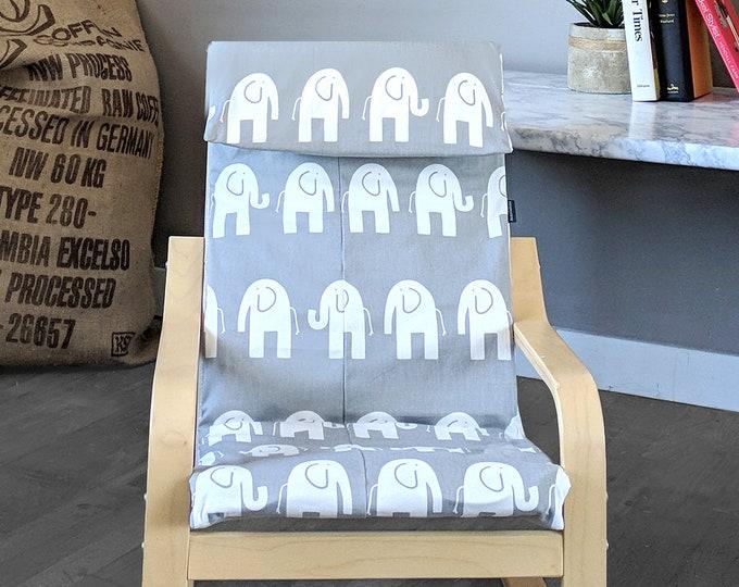 Elephant Print IKEA KIDS POÄNG Cushion Slip Cover