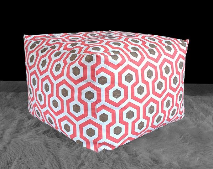 Pink Brown Honeycomb Pattern Custom IKEA Jordbro Bean Bag Covers