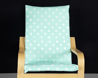 KIDS POÄNG Polka Dot Cushion Seat Cover, Mint Green