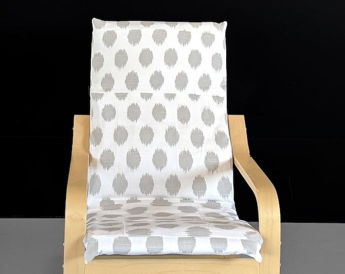 Gray Polka Dot Children's Ikea Poang Chair Cover