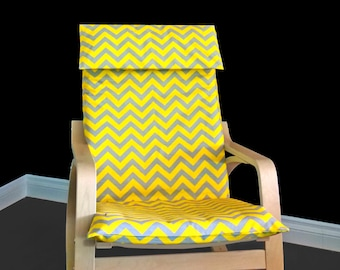 Yellow Chevron IKEA POÄNG Cushion Slipcover