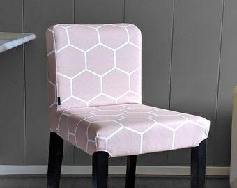 Blush Pink Hexagon Print, IKEA HENRIKSDAL Bar Stool Chair Cover