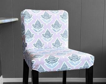 Blush Pink Flower Print, IKEA HENRIKSDAL Bar Stool Chair Cover