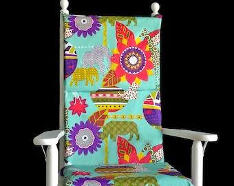 Colorful Jungle Safari Rocking Chair Cushion Cover