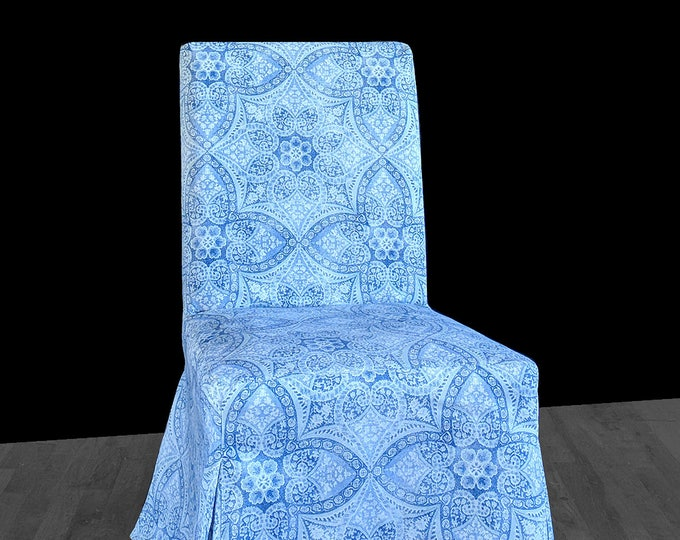 Blue Lace IKEA HENRIKSDAL Custom Dining Chair Cover