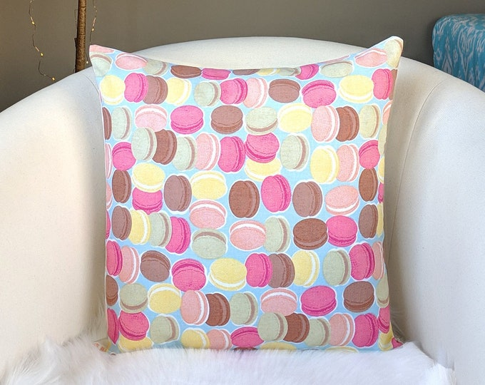 French Macaroon Cookies Pillow Cover
