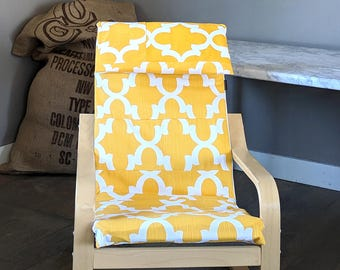 Patchwork Yellow Patterned Childs POÄNG Cushion Slipcover