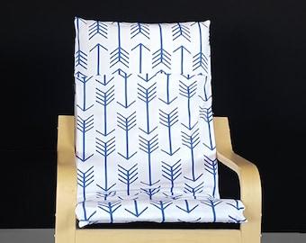 Blue Arrow Print IKEA KIDS POÄNG Seat Cover