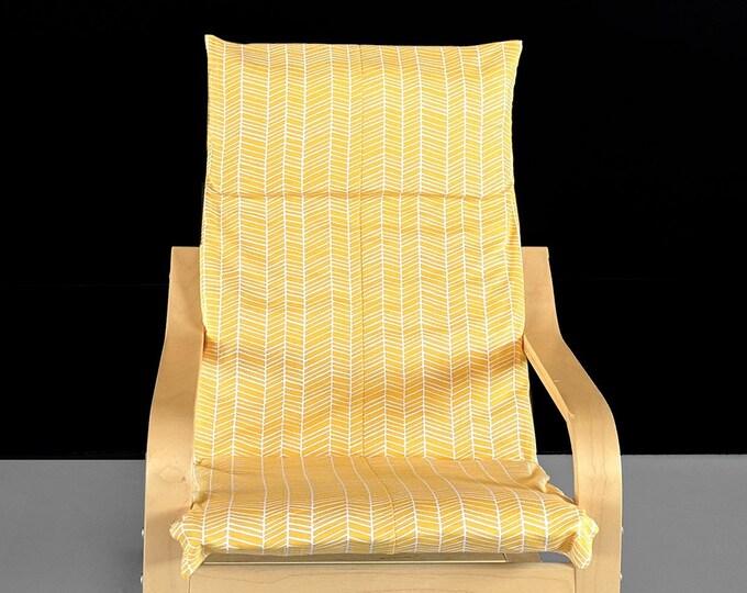 Yellow Herringbone IKEA KIDS POÄNG Cushion Slipcover
