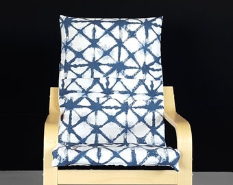 Shibori Indigo KIDS Tribal POÄNG Cushion Slipcover