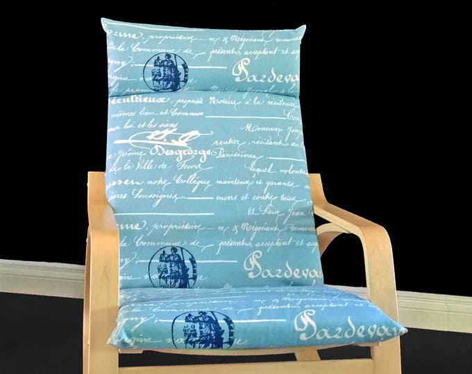 Calligraphy Ikea Poang Chair Cover, Writing Ikea Poang Slipcover