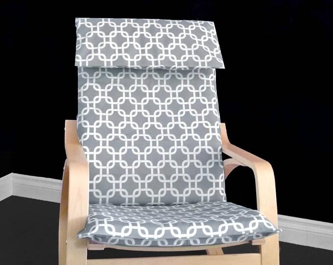 Gray Geometric IKEA POÄNG Cushion Slipcover