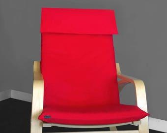 Red IKEA POÄNG Cushion Slipcover, Ready to Ship