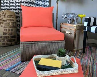 IKEA OUTDOOR Slip Cover, Solid Coral Pink, Melon Ikea Cushion Covers, Custom Ikea Decor, Bespoke Arholma Covers, Sunbrella Solid Coral