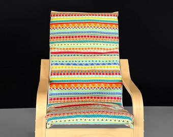 Colorful Fiesta Stripe Ikea Poang Chair Cover, Ikea Kids Poang Seat Cover
