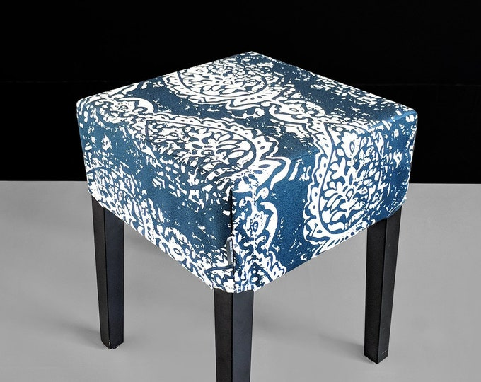 Navy Blue Ikat IKEA Seat Cover