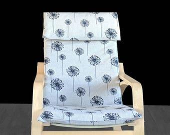 Dandelion Print Ikea Poang Chair Cover, Custom Dandelion Poang Seat Cover