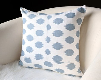 Cashmere Blue Dots Pillow Cover