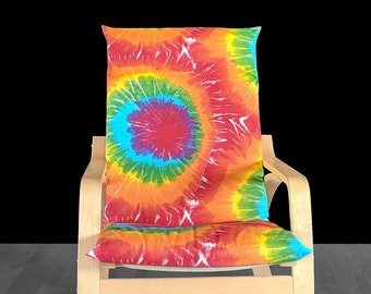 Tie Dye IKEA POÄNG Cushion Slipcover, Summer Print Custom Ikea Covers
