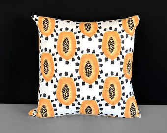 Orange Papaya Fruit Pillow Cover
