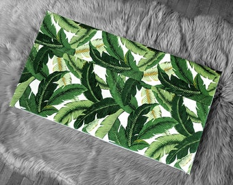 IKEA STUVA Bench Pad Slip Cover, Outdoor Green Tropical Swaying Palms, Ready to Ship