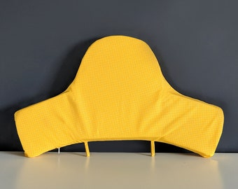 Baby Highchair Cushion Cover for IKEA Klammig, Pyttig, Yellow Honeycomb Print
